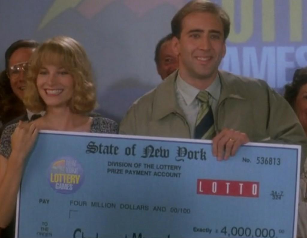 Счастливый случай - Николас Кейдж выиграл в лотерею